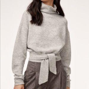 NWOT Aritzia Wilfred Lorin Tie Waist Sweater